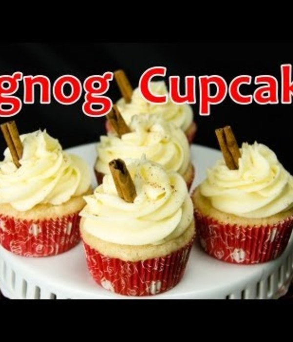 How to Make Eggnog Christmas Cupcakes