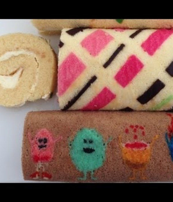 How to Make a Patterned Roll Cake