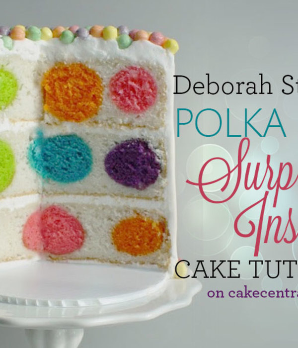 How to Make a Polka Dot Surprise-Inside Cake