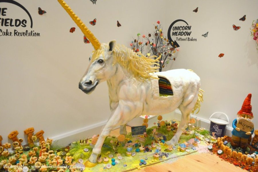 Uk S Amazing Rainbow Unicorn Cake Cakecentral Com