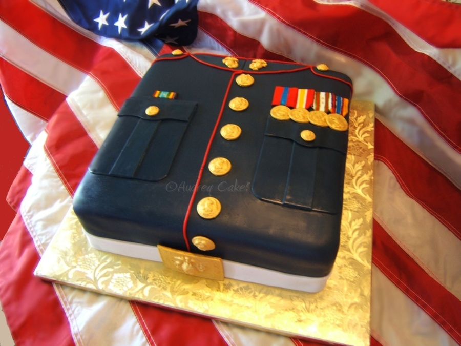 Veterans Day Marines Birthday Cake