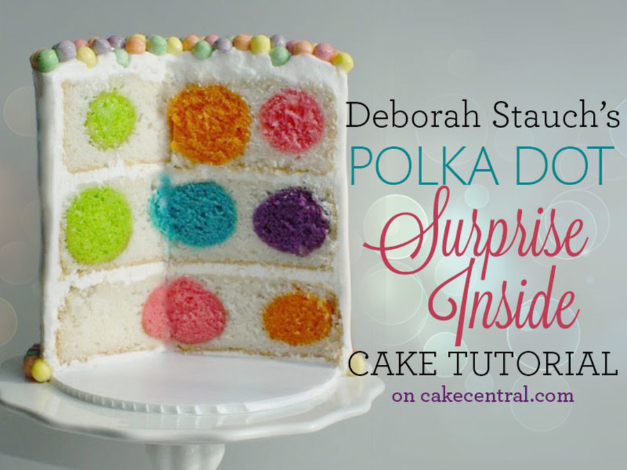Cake Recipes Download: How To Make A Polka Dot Surprise-Inside Cake