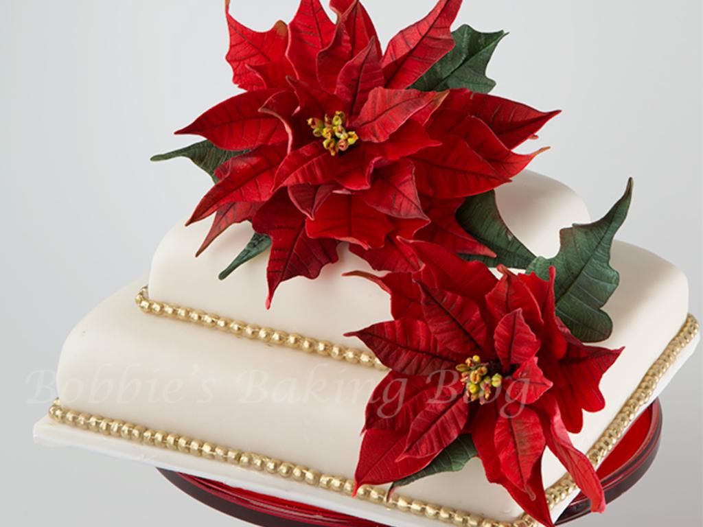 Gumpaste Poinsettia Tutorial Cakecentral Com