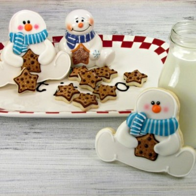 Rosy-Cheeked Snowman Cookie Tutorial on Cake Central