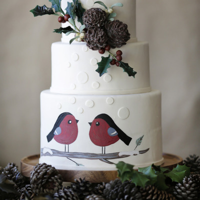 Sketch to Cake: Diane Fehder's Holiday Birds Cakes on Cake Central