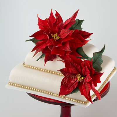 Gumpaste Poinsettia Tutorial on Cake Central