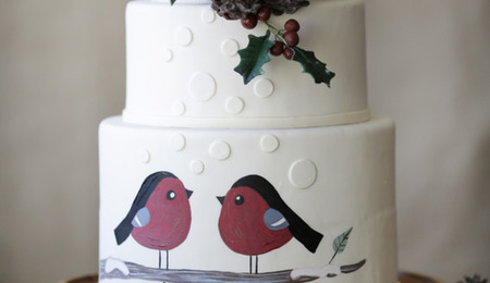 Sketch to Cake: Diane Fehder's Holiday Birds Cakes