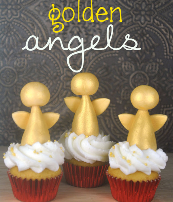 Golden Angel Cupcake Topper Tutorial