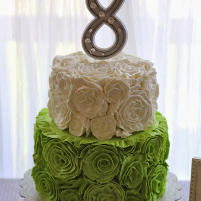 Buttercream Ruffle Rosette Tutorial on Cake Central