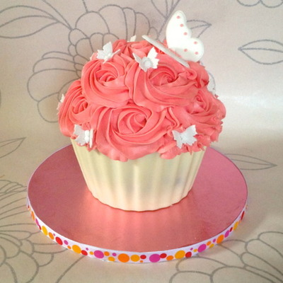 Giant Cupcake Shell on Cake Central