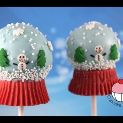 How-to Make Snow Globe Cakepops on Cake Central