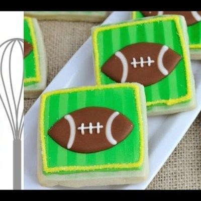 How to Decorate Football Field Cookie with Royal Icing on Cake Central