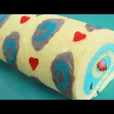 Decorated Roll Cake Tutorial with Recipe on Cake Central