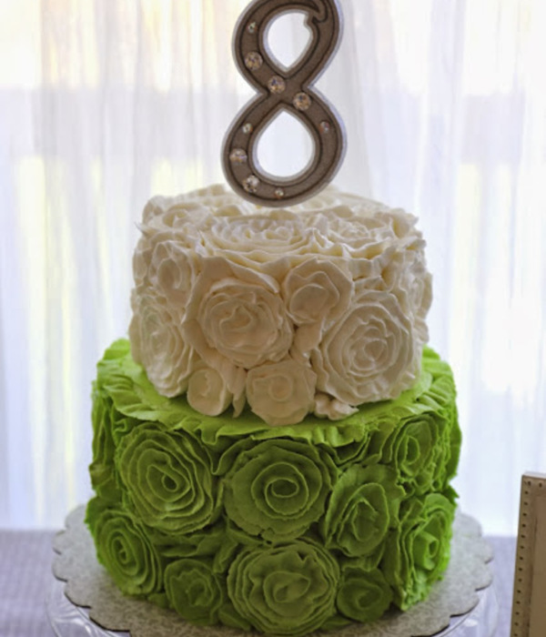 Buttercream Ruffle Rosette Tutorial