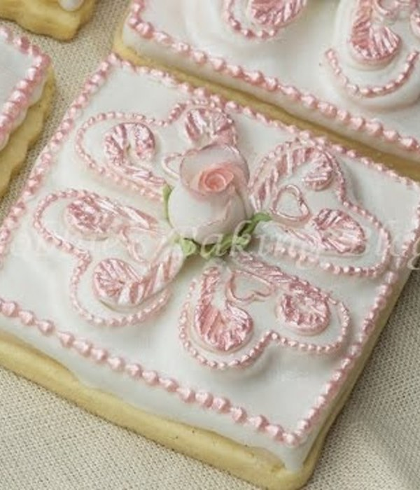 Decorated Tufted Heart Sugar Cookie Tutorial