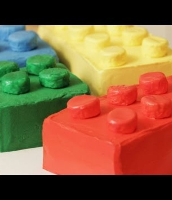 How to Make a Lego Block Cake