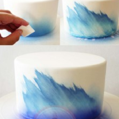 Airbrush Technique: Spray & Wipe Away on Cake Central