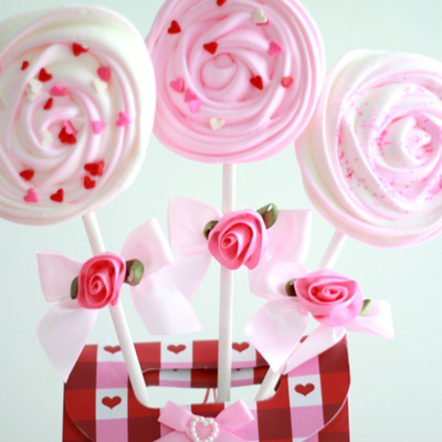 How to Make Valentine Meringue Pops on Cake Central