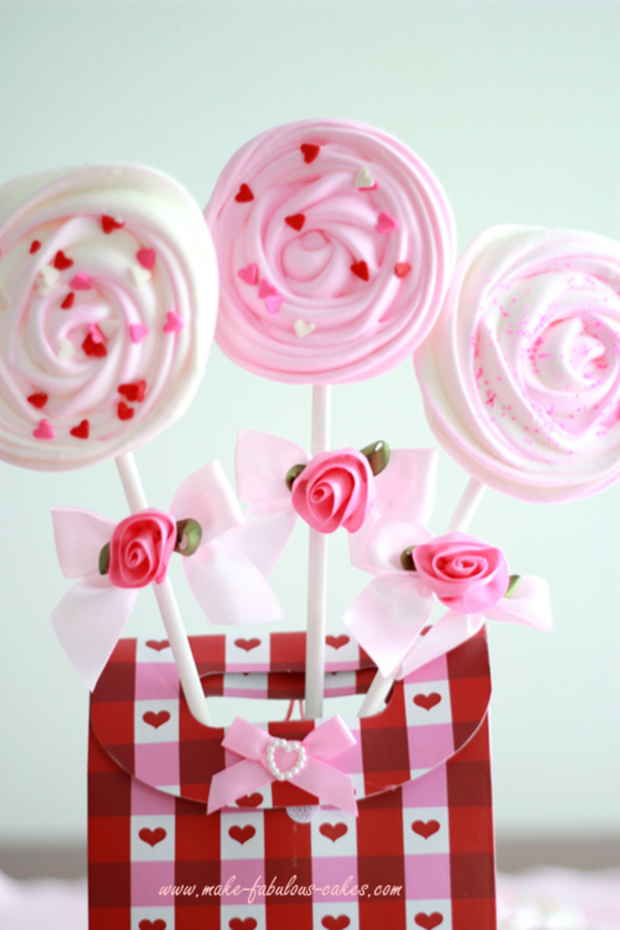How To Make Valentine Meringue Pops Cakecentral Com