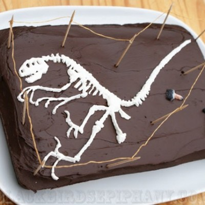 Royal Icing Dinosaur Fossil on Cake Central