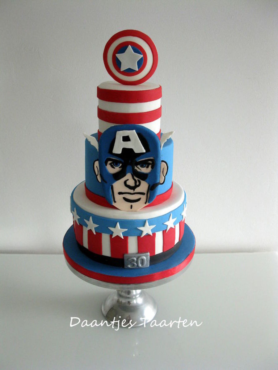 Captain America Shield Cake Recipe