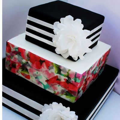 How to Decoupage a Cake on Cake Central