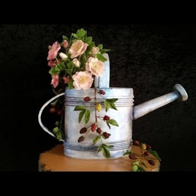 Watering Can Cake Tutorial on Cake Central