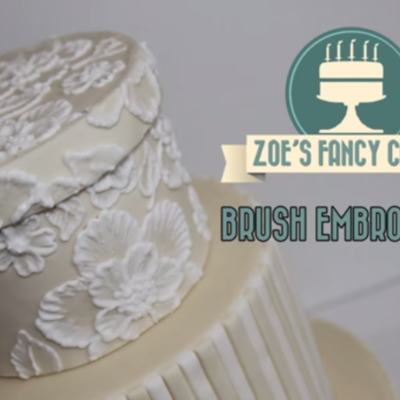 Brush Embroidery on Cake Central