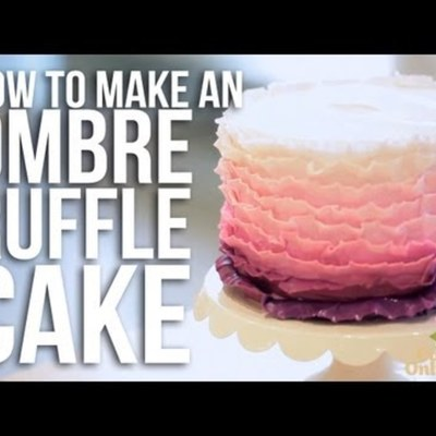 How-to make an Ombre Ruffle Cake on Cake Central