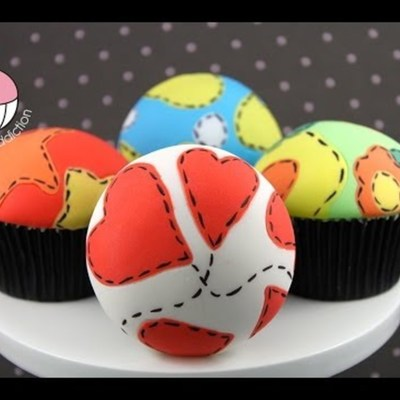 Fondant Patchwork Cupcakes on Cake Central