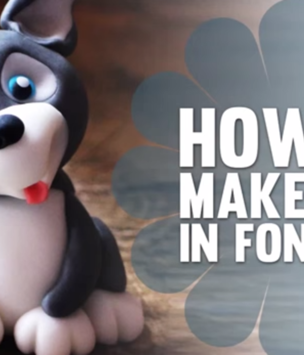 How to Make a Fondant Husky Puppy