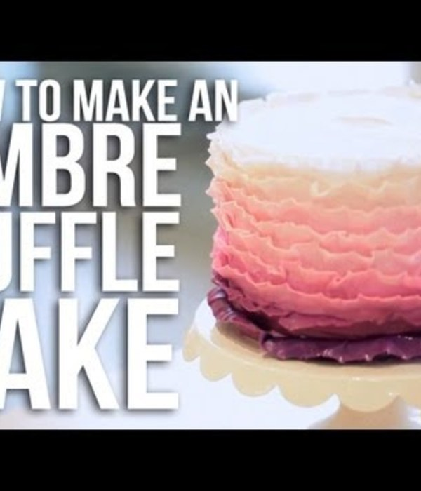 How-to make an Ombre Ruffle Cake
