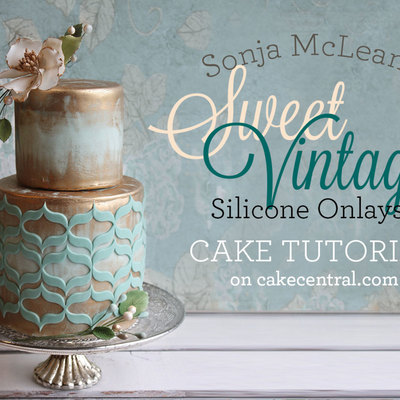 Sonja McLean's Sweet Vintage Onlays Cake Tutorial on Cake Central