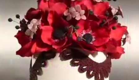 Domed Gumpaste Flower Topper