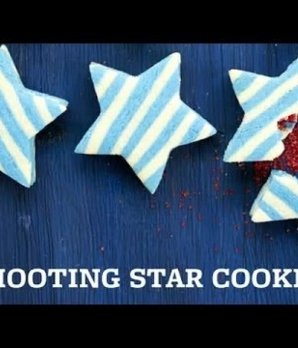 Sugar Cookie Stars with a Surprise Center