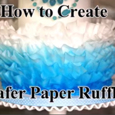 How to Make Wafer Paper Ruffles on Cake Central