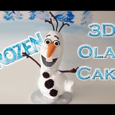 Sculpted Olaf Cake on Cake Central