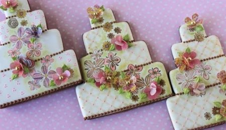 How to Make Multi-Media Wedding Cake Cookies