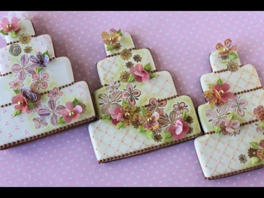 How To Make Multi Media Wedding Cake Cookies Cakecentral Com