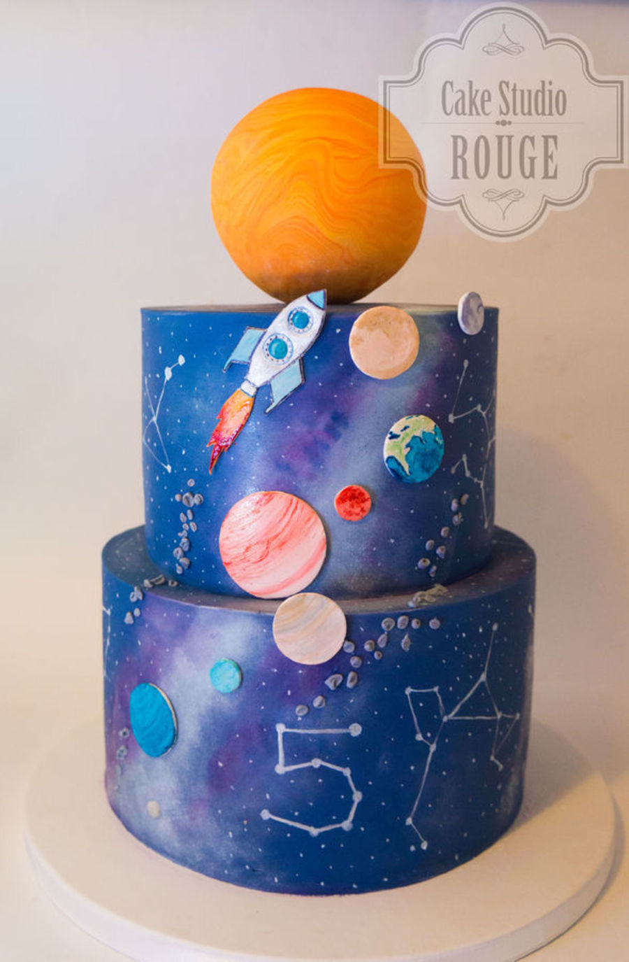 Top planet cakes for Outer space cake design