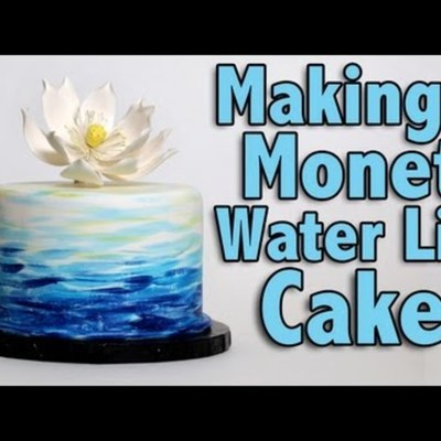 Making a Monet Water Lily Cake on Cake Central