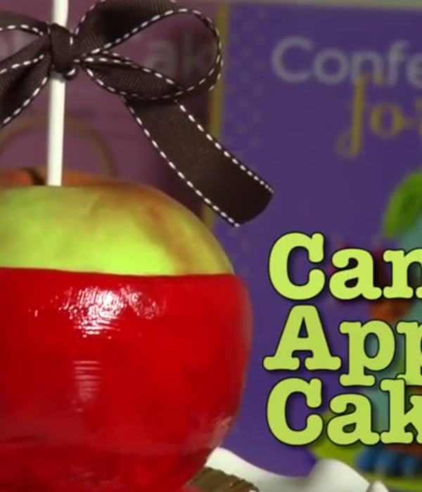 Sculpted Candy Apple Cake