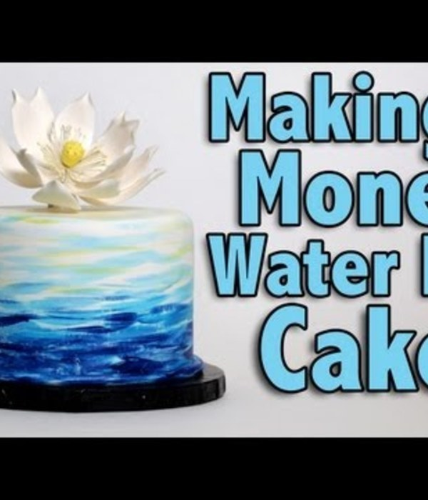 Making a Monet Water Lily Cake