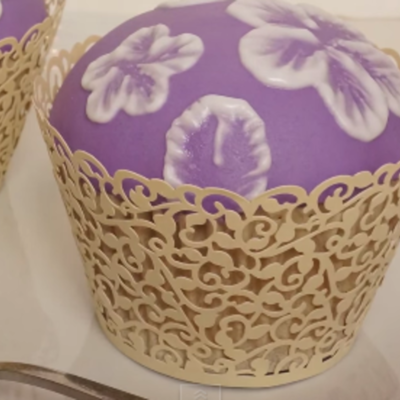 Brush Embroidery Cupcake Tutorial on Cake Central