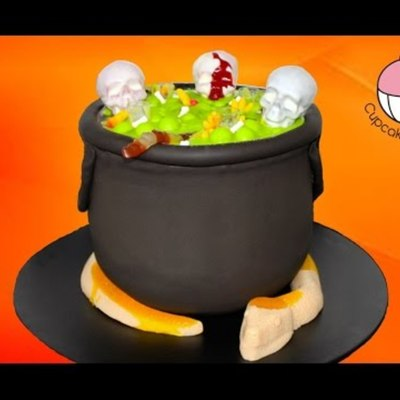 Bubbling Halloween Cauldron Cake on Cake Central