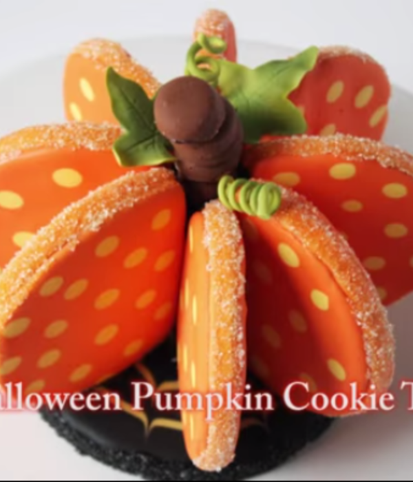 3D Halloween Pumpkin Cookie Tutorial