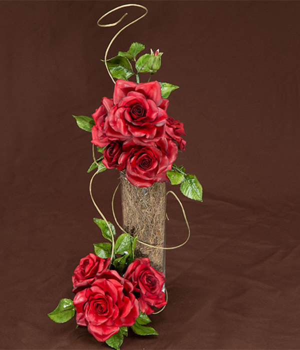 Gumpaste Black Magic Rose