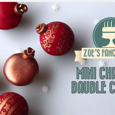 Mini Christmas Bauble Cupcakes Tutorial on Cake Central