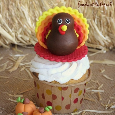 Gobble Up This Sweet Turkey Fondant Topper Tutorial on Cake Central