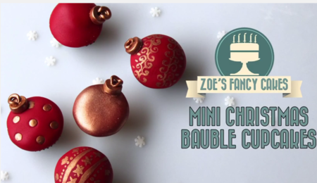 Mini Christmas Bauble Cupcakes Tutorial